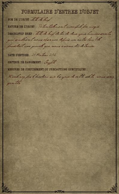 Formulaire d'entrée de la tête de loup Unknown