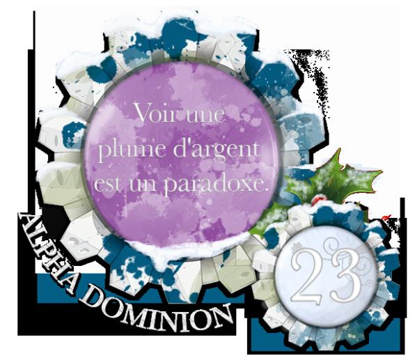 Calendrier de L'Avent Dominion - Edition 2017 Noel23