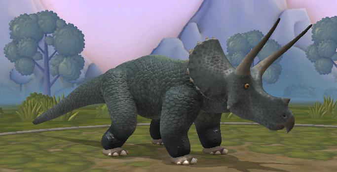 Triceratops y teropodo generico Unknown