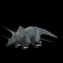 Triceratops y teropodo generico Triceratops
