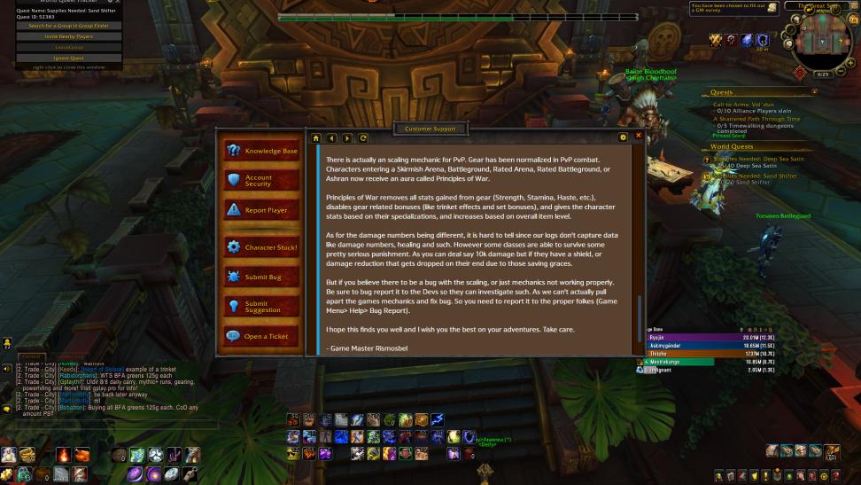 PvP scaling BFA - World of Warcraft Forums