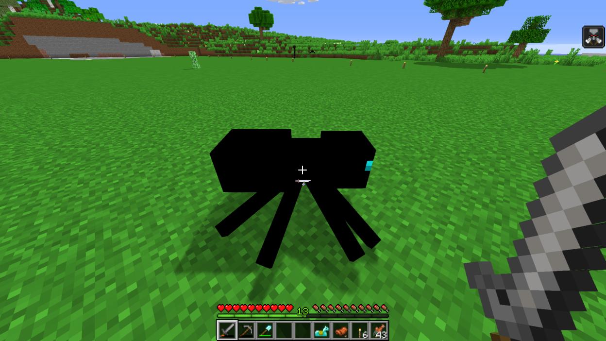 Completely Black Spider