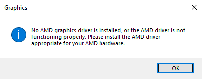 no amd graphic driver is installed