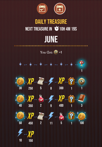 Wizards Unite Daily Treasure
