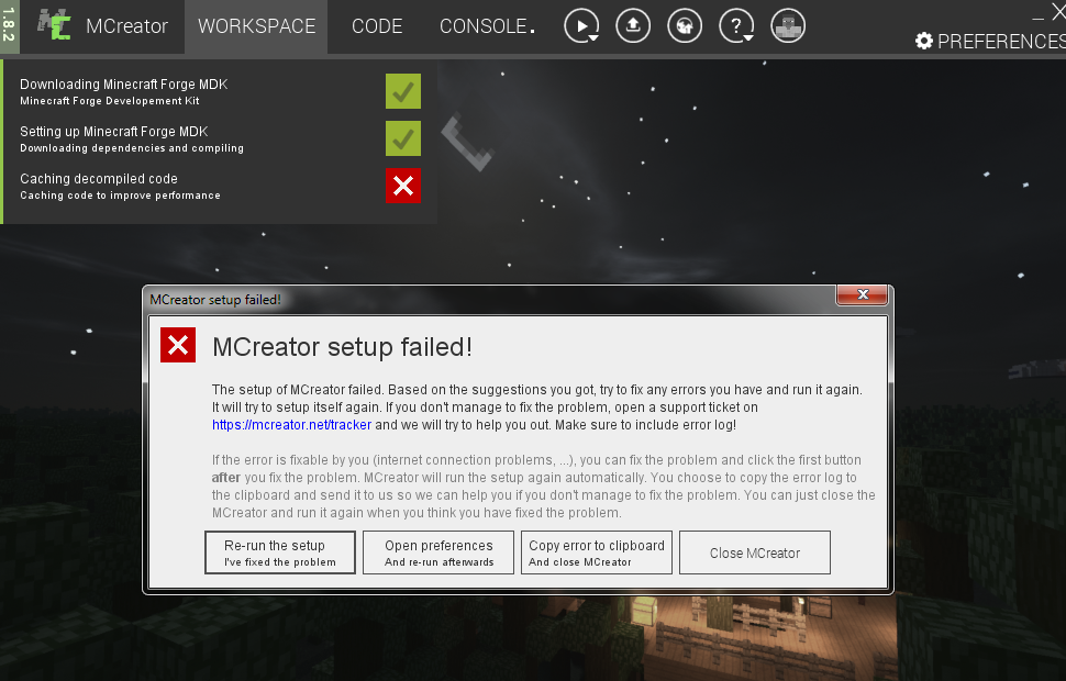 minecraft forge libraries failed to download