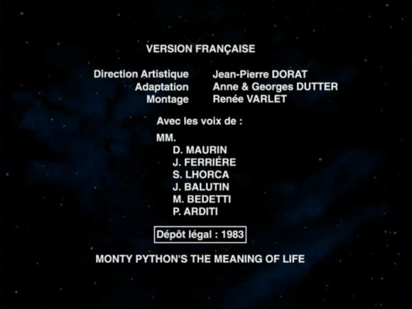 Monty Python, Le Sens de la Vie : Deux doublages ? Vlcsnap-2017-09-07-00h33m08s869