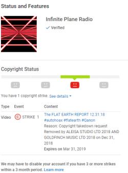 TIM OZMAN: Youtube Shut Down By ALEISA STUDIO LTD 2018 AND