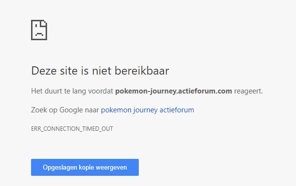 'Site is niet bereikbaar'-melding Chill