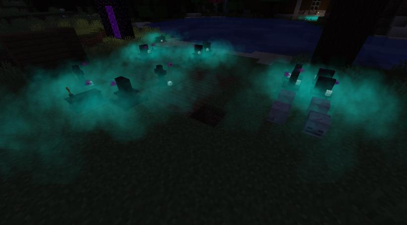 Corail tombstone : colored fog