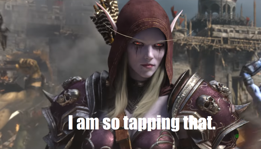Sylvanas smirk at the end of the BfA trailer - World of