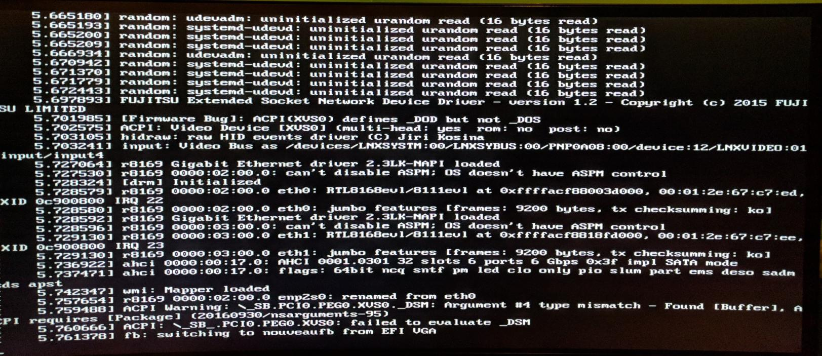 Unable to boot any recent Linux distro - Linux & Unix