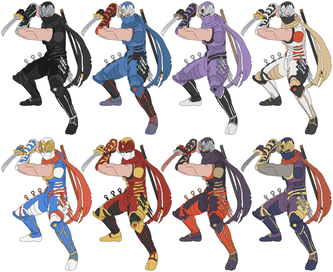 Lizuka S Alternate Color Mock Ups Super Smash Bros
