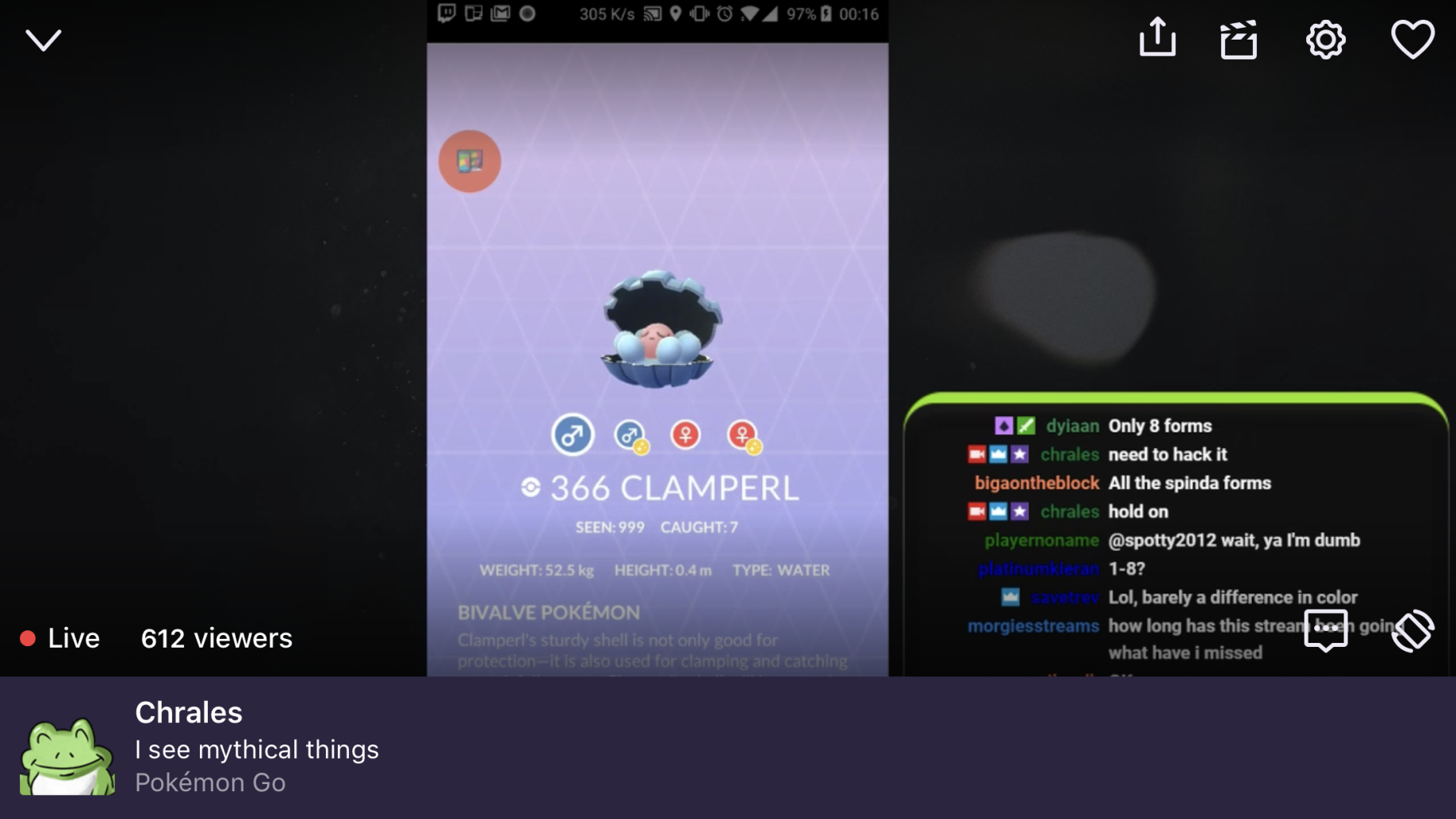 Pokemon GO Clamperl