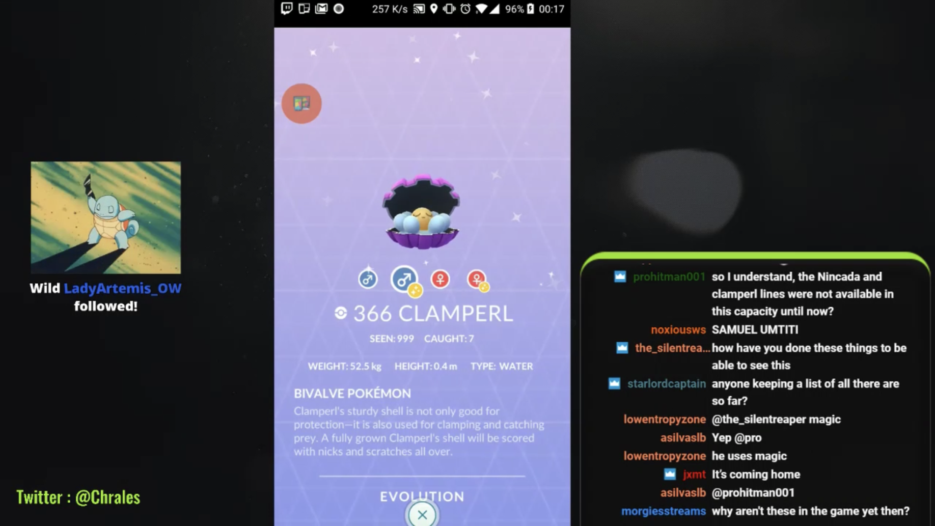 Pokemon GO Shiny Clamperl