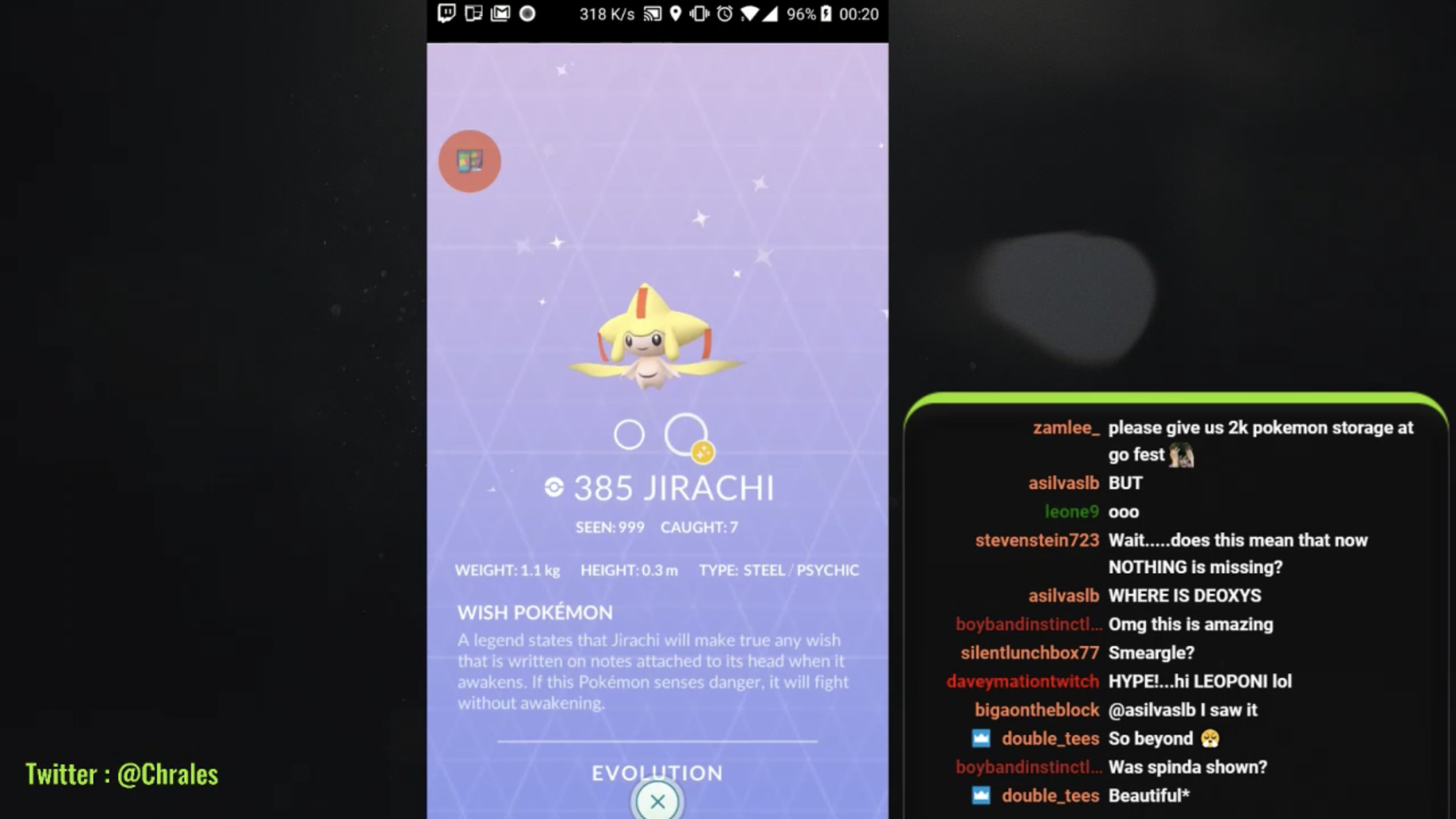 Pokemon GO Jirachi shiny