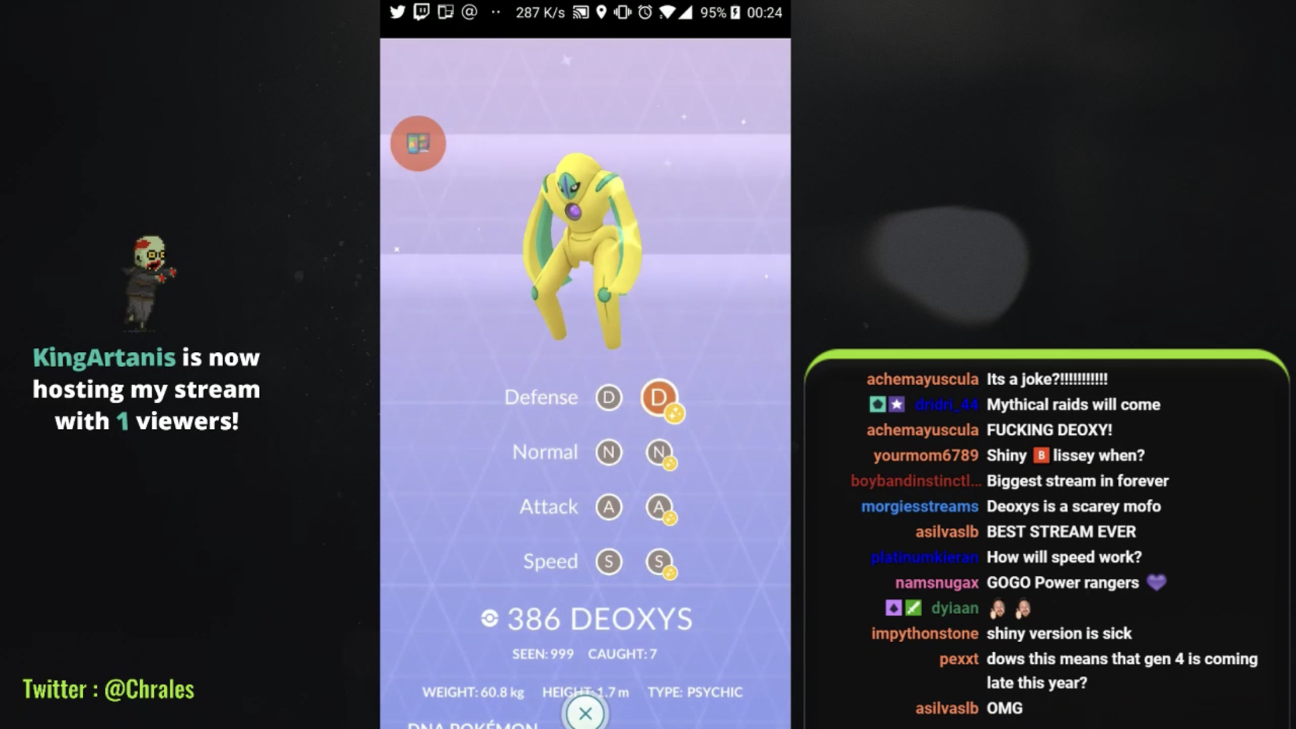 Pokemon GO Deoxys shiny