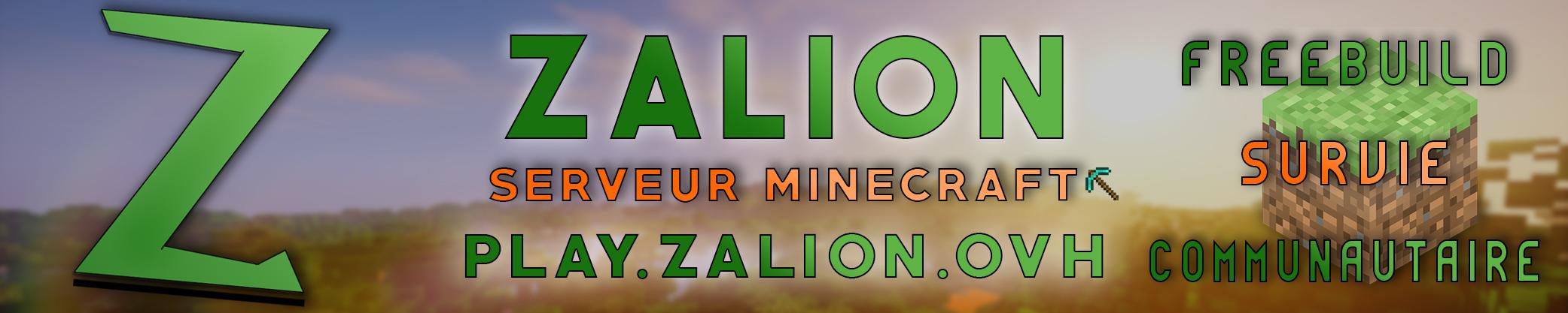 Serveur Minecraft Zalion