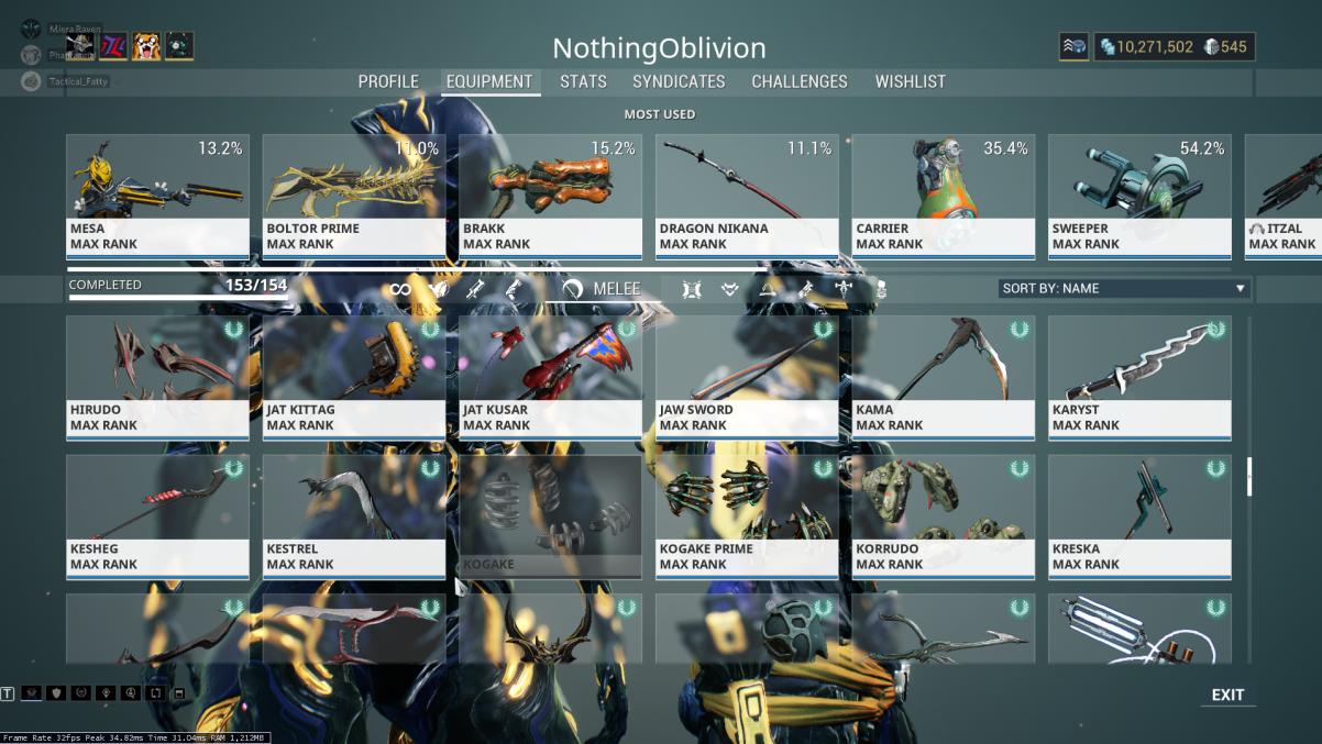 Lost Mastery on a Weapon - PC Bugs - Warframe Forums