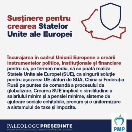 Paleologu Susține Crearea Statelor Unite ale Europei