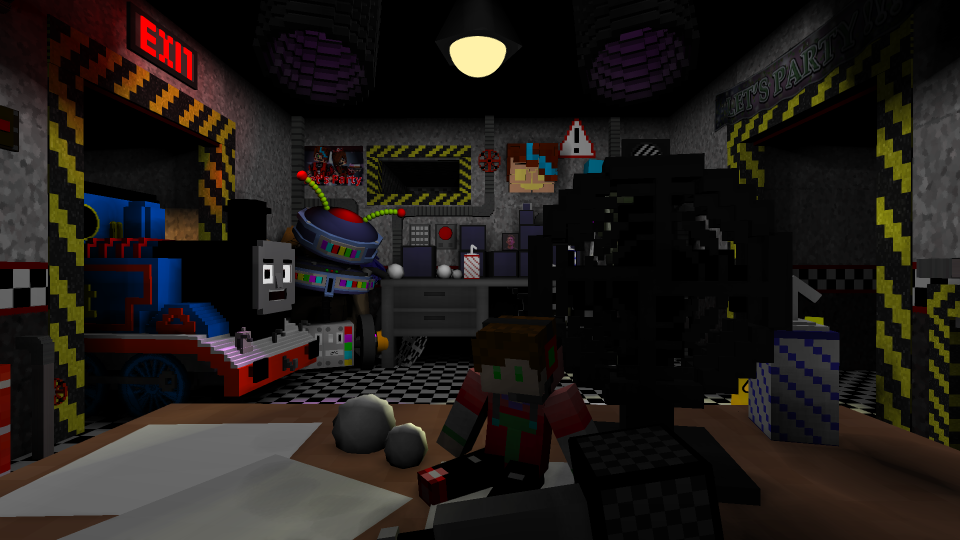 Ultimate Custom Night Map Office - Rigs - Mine-imator forums