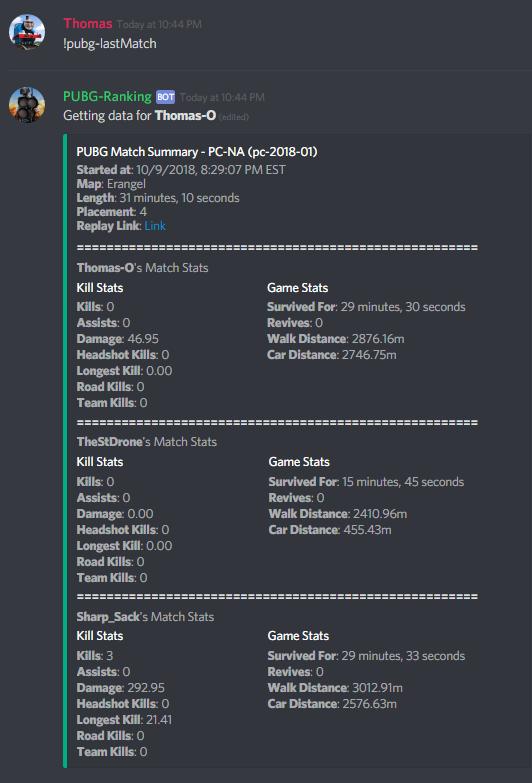 Last match output