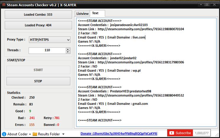 NEW Steam Account Checker v2 by X-SLAYER