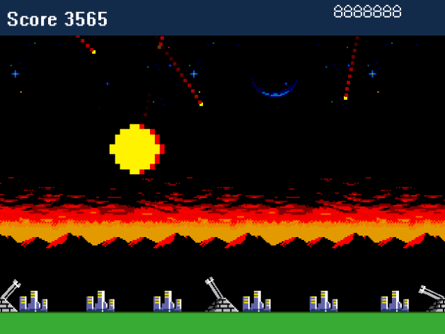 Missile Command screen shot