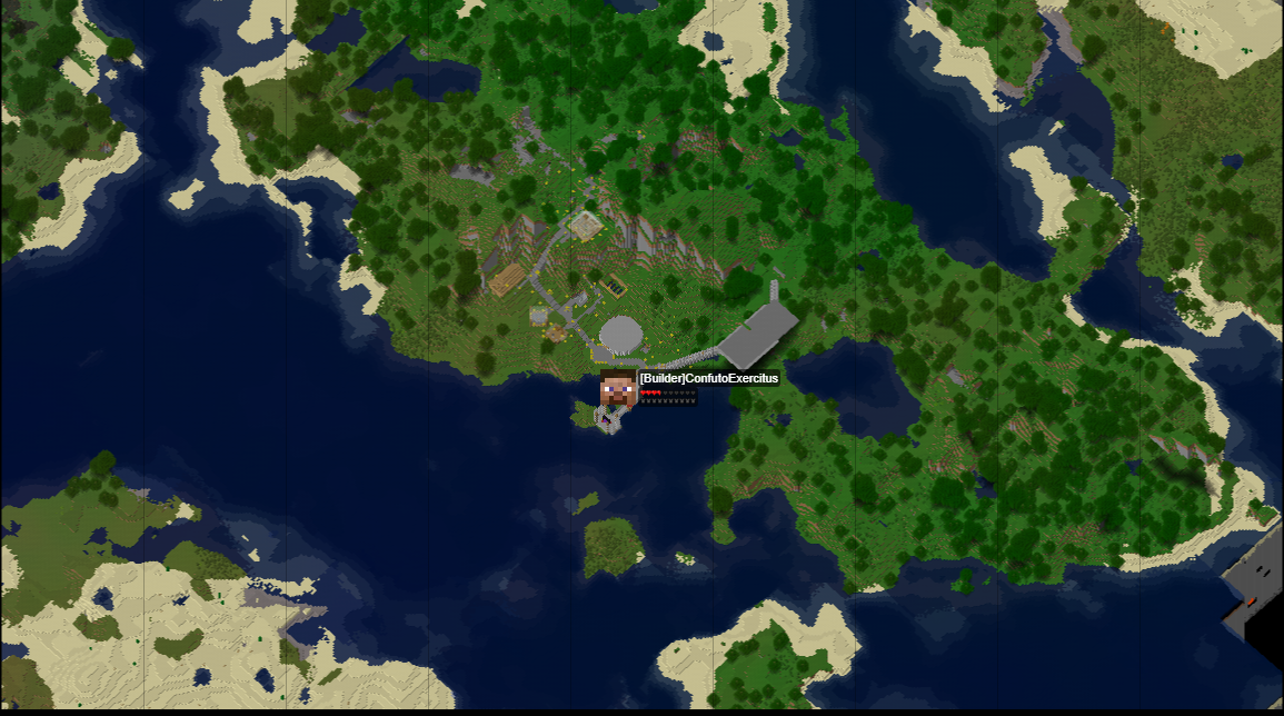 Picture of Dynmap With Player