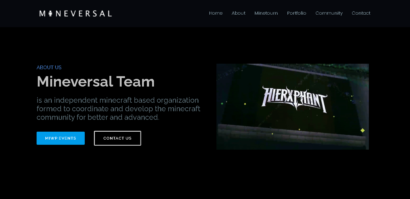 Mineversal Website