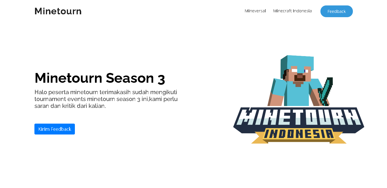 Minetourn Website