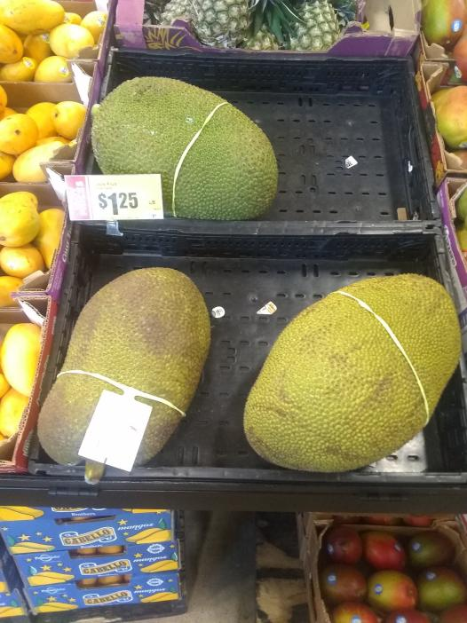 Three formidably spiky green objects similar in size and shape to watermelons. Perhaps they are dragon eggs.