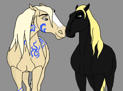 [MINI-EVENT] Le Centre Équestre du Cimarron Spirit-horse-drawing-23