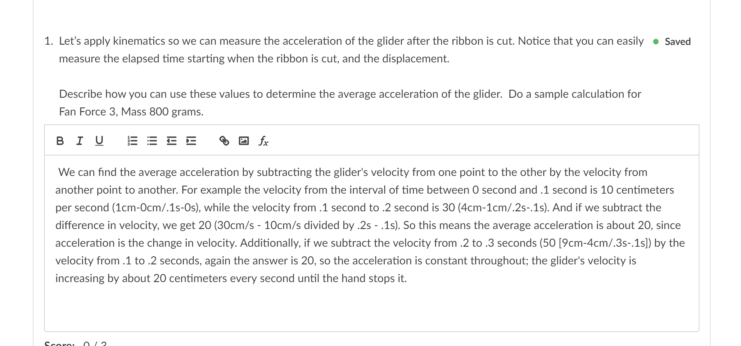 Is my answer correct? I'm very confused because a = 2x/t^2 ...