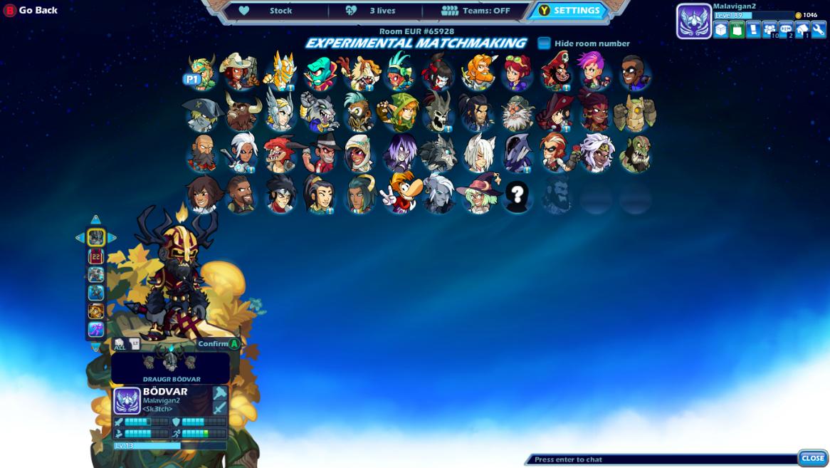 Wts brawlhalla account 2k glory, diamond avatar, taunts