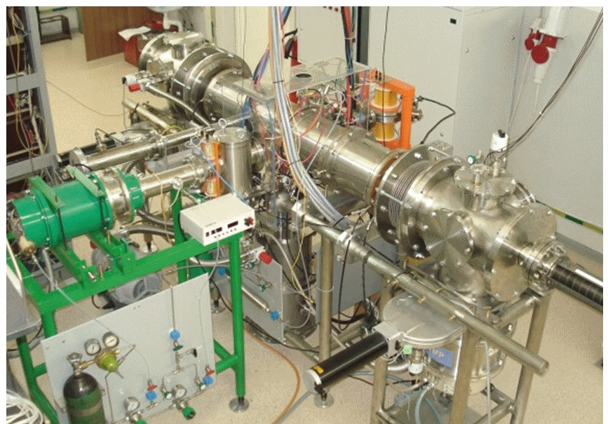 Fig.3.  H- beam neutralization test bench with prototype plasma target