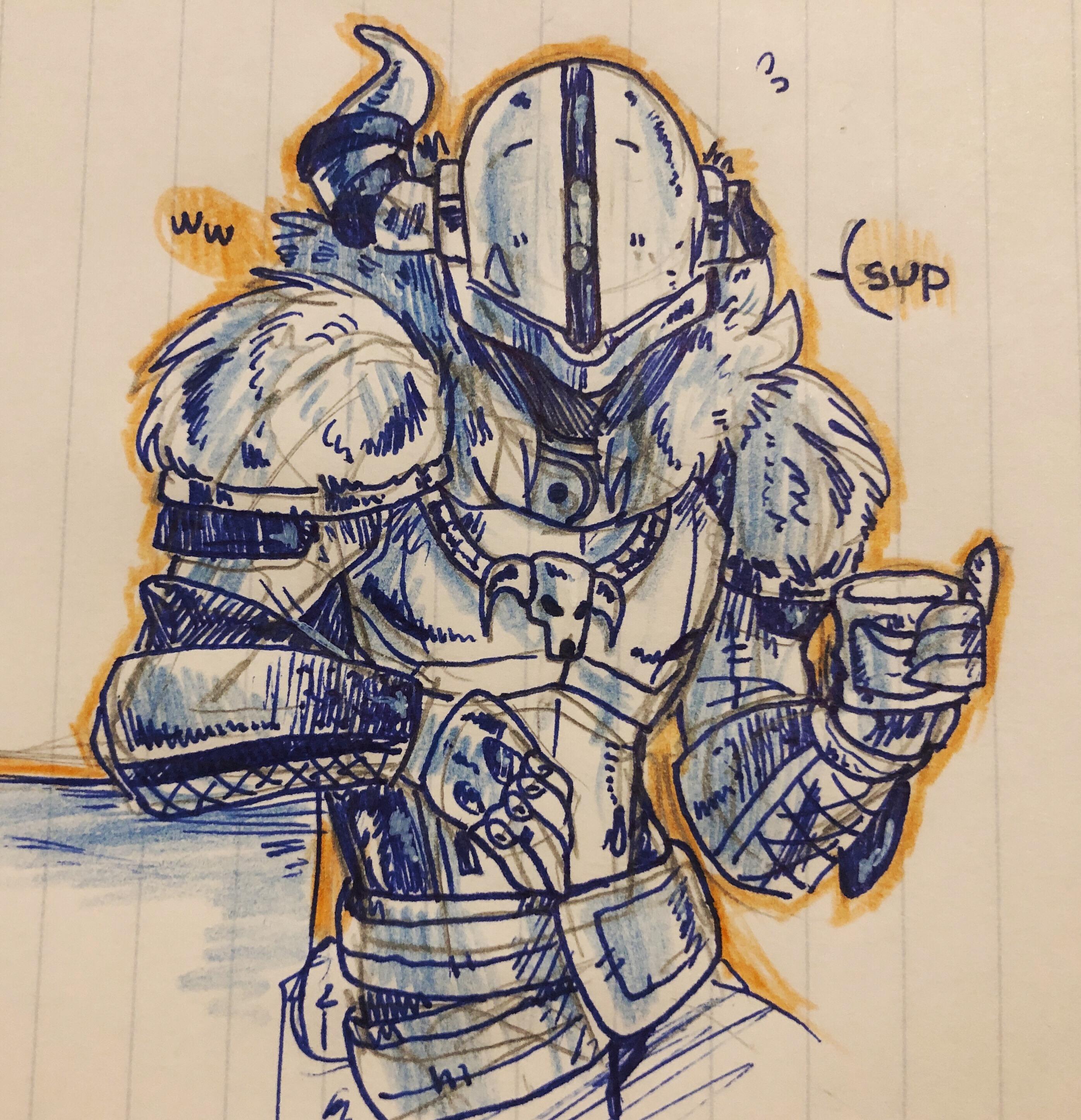 Shaxx Ink Doodle