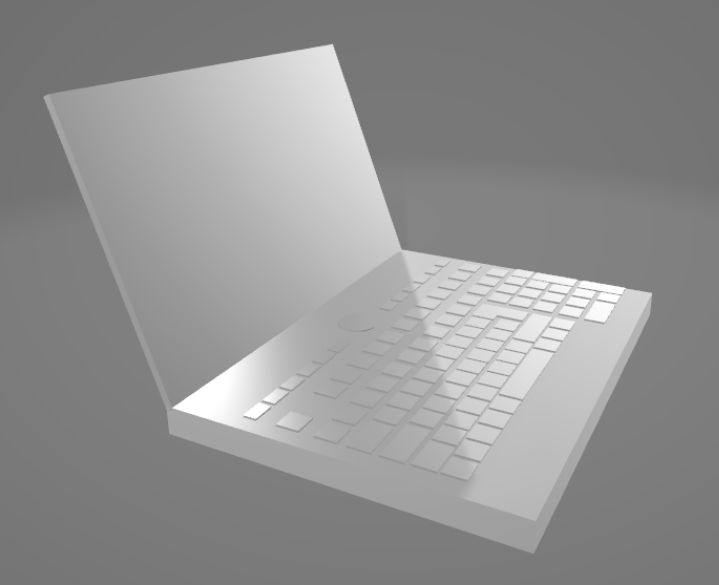 the 3D model of the computer