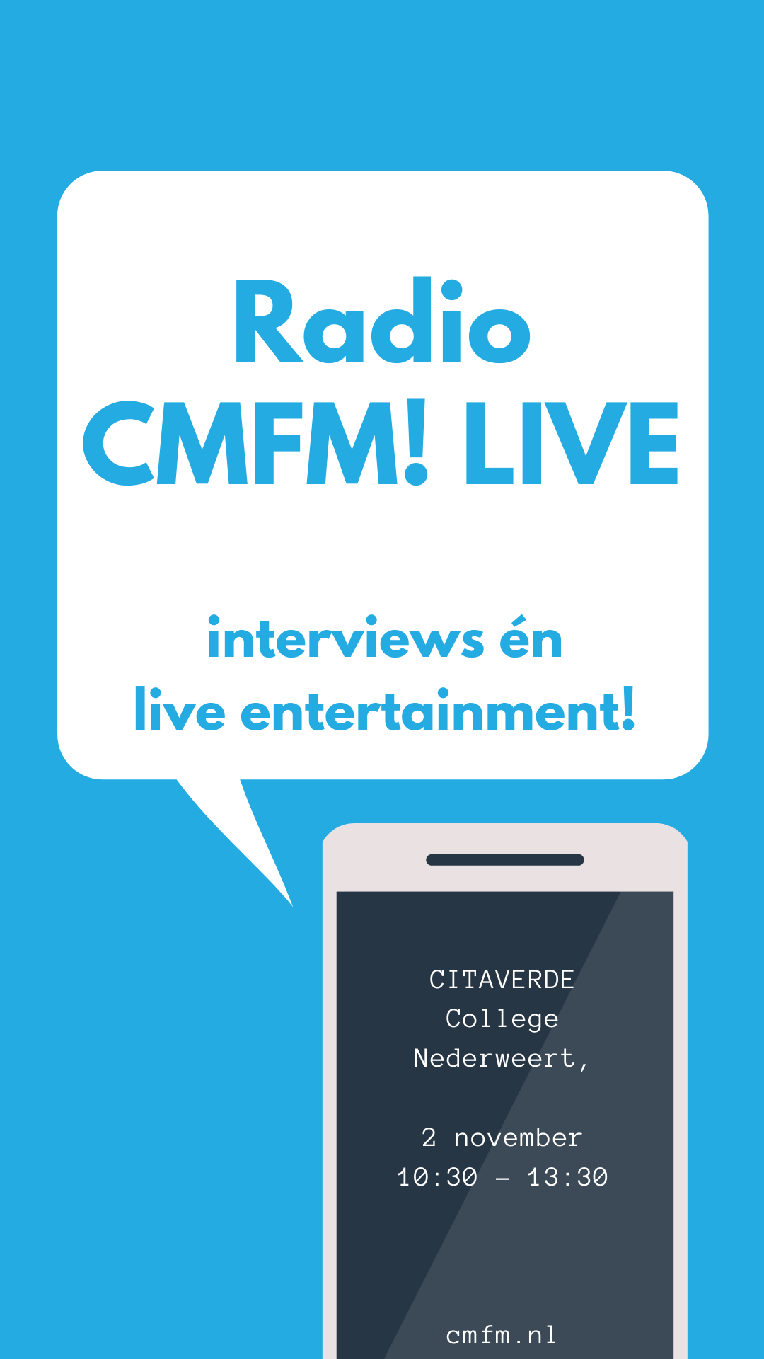 CMFM! live bij Citaverde College