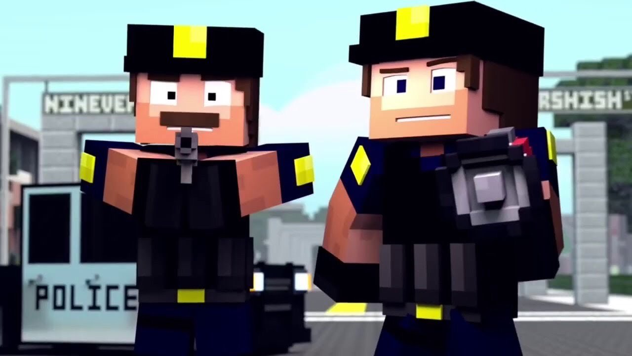 """Officer Tom (From """"HANDS UP!"""" Minecraft Animation/ZAMinations"""