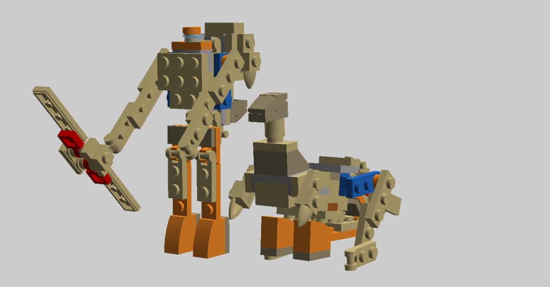 Customs de LeaderOptimus : le côté Lego - Page 3 Dinobot