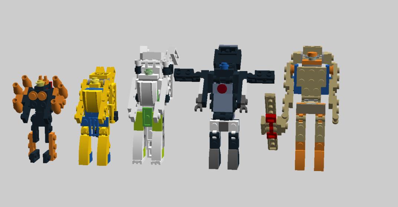 Customs de LeaderOptimus : le côté Lego - Page 3 Blackarachnia_Cheetor_Tigatron_Primal_Dinobot