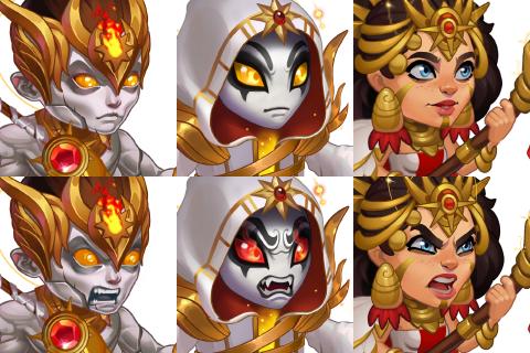 Hero Wars Solar skin avatars