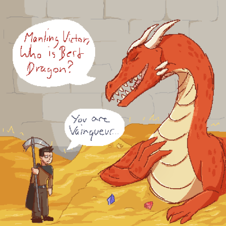 Vainqueur the Dragon Fanart, by PurpleDungeon