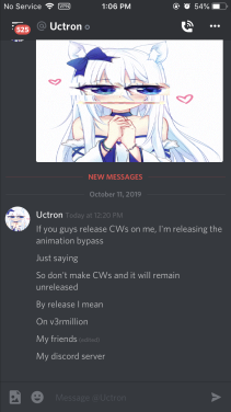 Uctron Leaking Anim Bypass Updated To New Cw Drama Is Over Longest Cw On V3rm