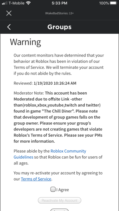 Can An Offsite Link In A Script Get A Game Under Review Roblox