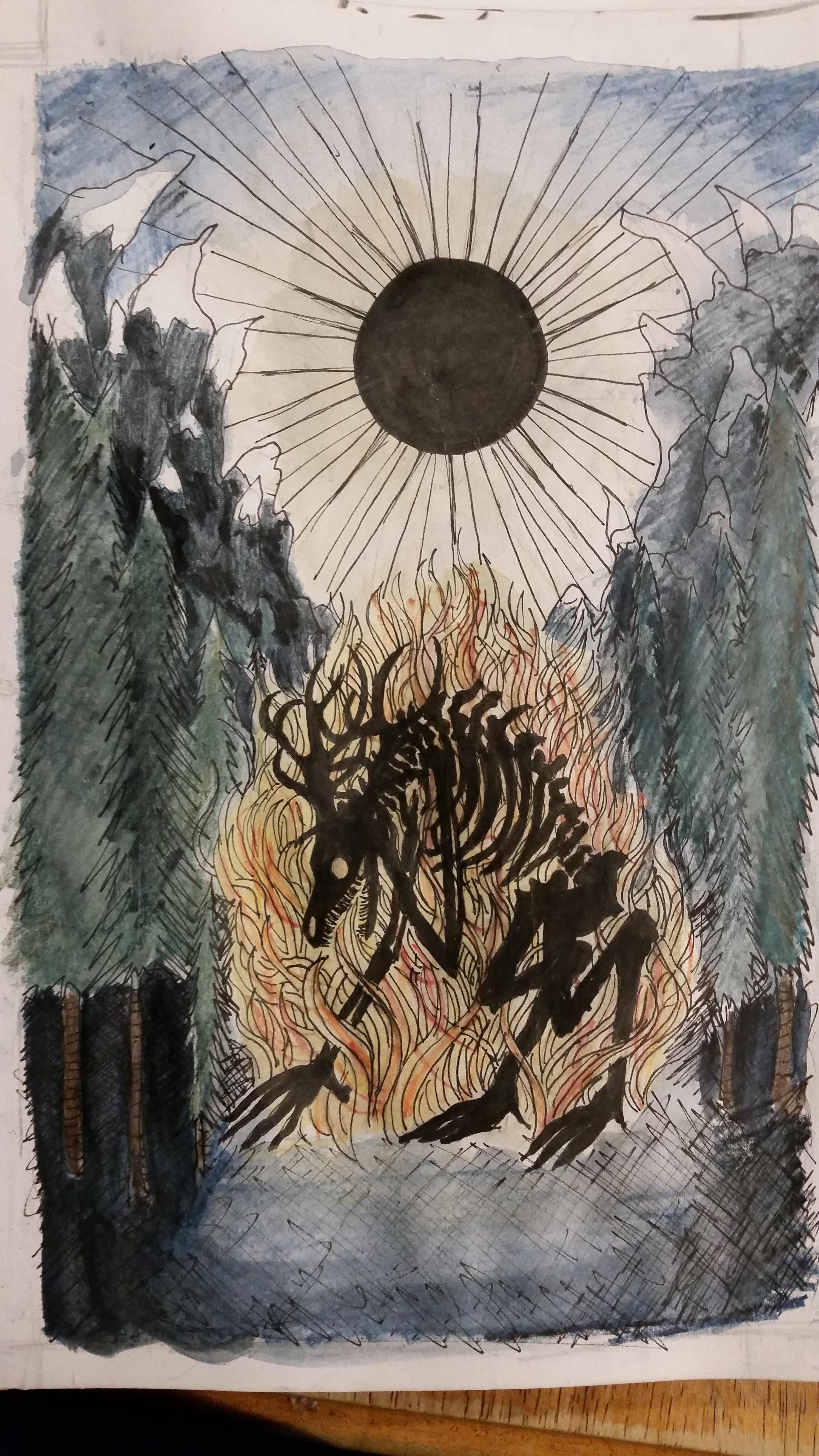 black sun rises