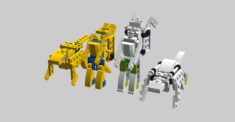 Customs de LeaderOptimus : le côté Lego - Page 3 Cheetor_et_Tigatron_et_alt