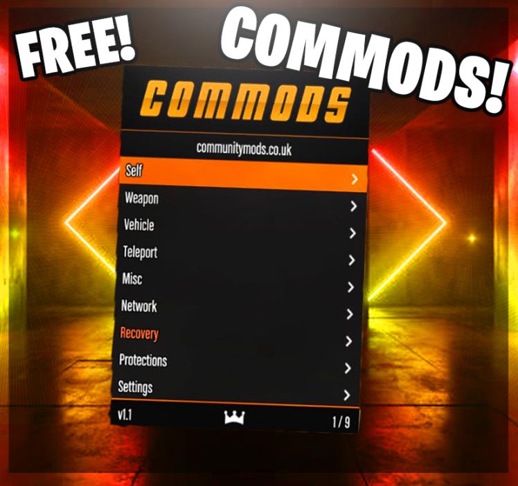 Commods 2.2 gtav modmenu free