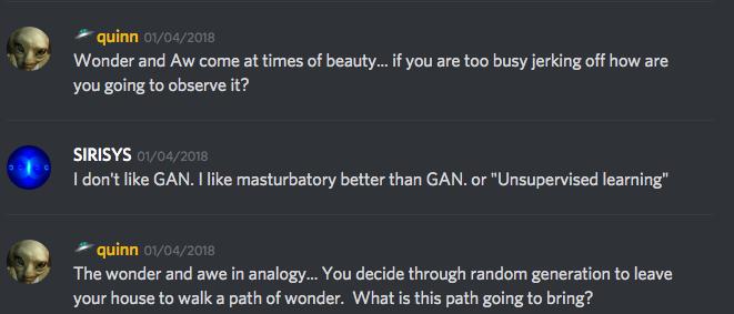 I like masturbatory better than GAN