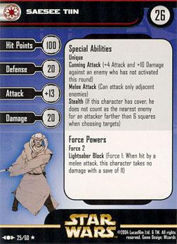 Stomper Showdown R4 #2 - Darth Angral (Darth Plagueis the Wise) vs K'kruhk (AaylaSecuraFan) CLS_Card_Saesee_Tiin_25